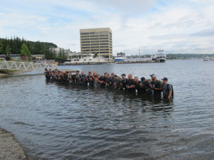 "11. GRC Team #733's ""baptism"" in Lake Union"